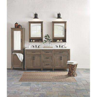 Walden 71 in. W x 22 in. D Double Bath Vanity in Driftwood Grey with Engineered Stone Vanity Top in Crystal White