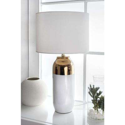 Casablanca Lily Ceramic Two-Tone 25 in. Gold Table Lamp