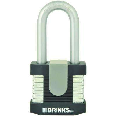 2 in. Solid Steel Commercial Padlock with Boron Shackle