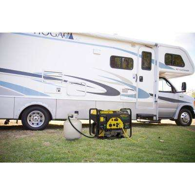 3500-Watt Dual Fuel Powered RV Ready Portable Generator