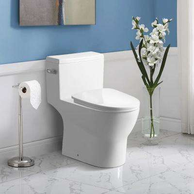 1.28/1.6 GPF Single Flush 1-Piece Round Chair Height Toilet - Seat Included