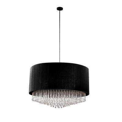 Penchant Collection 6-Light Chrome and Black Pendant