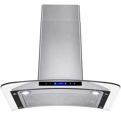 30 in. Convertible Kitchen Wall Mount Range Hood in Stainless Steel with Tempered Glass and Touch Controls