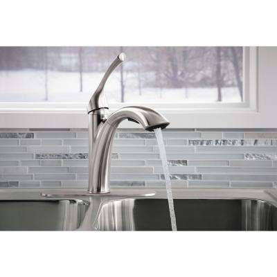 Mistos Single-Handle Pull-Out Sprayer Kitchen Faucet In Stainless Steel