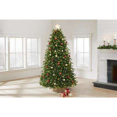 7.5 ft Miles Noble Fir LED Pre-Lit Artificial Christmas Tree with 660 Color Changing Lights and 116 Functions