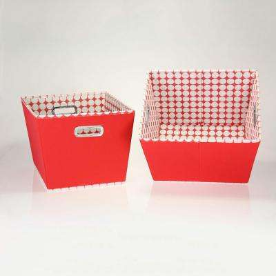 10 in. Toned Tapered Storage Bins (Set of 2)