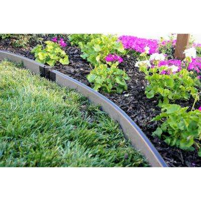 1 in. Series 16 ft. Weathered Wood Composite Curved Landscape Edging Kit