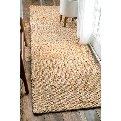 Hailey Jute Natural 3 ft. x 12 ft. Runner Rug