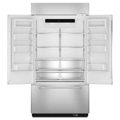 24.2 cu. ft. Built-In French Door Refrigerator in Stainless Steel
