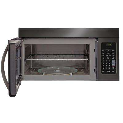1.8 cu. ft. Over the Range Microwave in Black Stainless Steel