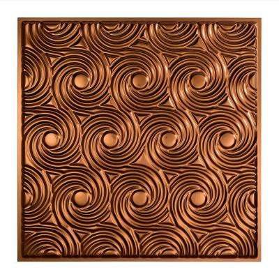 Cyclone- 2 ft. x 2 ft. Lay-in Ceiling Tile in Oil Rubbed Bronze