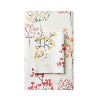 Karlie Floral Cotton Percale Pillowcase (Set of 2)