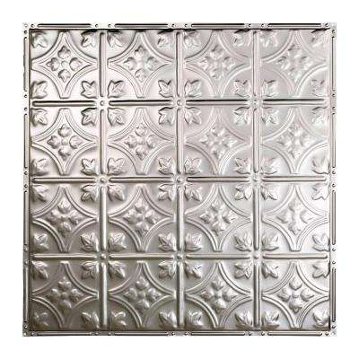 Hamilton 2 ft. x 2 ft. Nail-up Tin Ceiling Tile in Clear