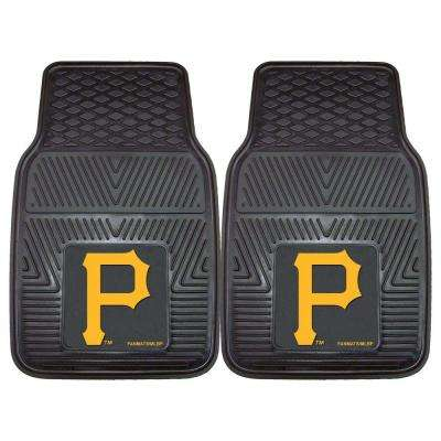 Pittsburgh Pirates 18 in. x 27 in. 2-Piece Heavy Duty Vinyl Car Mat