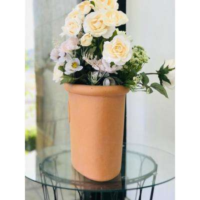 Small 11.8 in. Tall Terracota Lightweight Concrete Classic Ellipse Planter