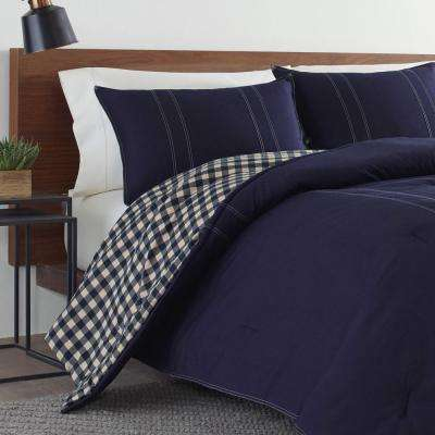 Kingston 3-Piece Navy Full/Queen Comforter Set