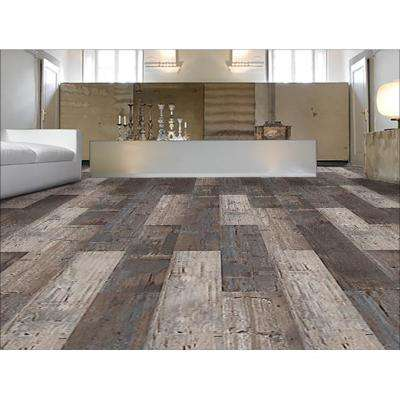 COLORS Floor and Wall DIY Reggae Wood Aged 6 in. x 36 in. Multi-Tonal Glue Down Luxury Vinyl Plank (30 sq. ft. / case)