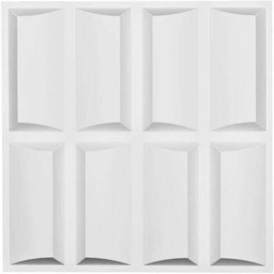 1 in. x 19-5/8 in. x 19-5/8 in. White PVC Robin EnduraWall Decorative 3D Wall Panel