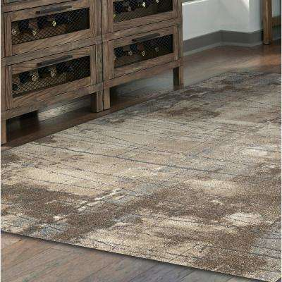 Allure New Style Ivory/Brown/Gray Shades 5 ft. x 7 ft. Area Rug