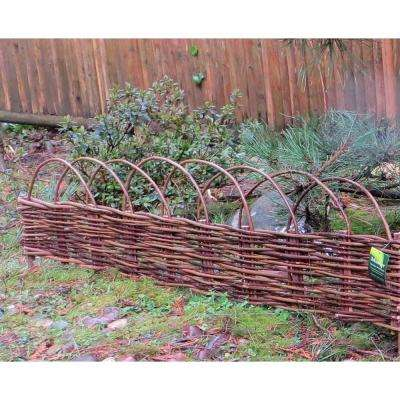 72 in. L x 2 in. W X-Large Woven Willow Flexible Edging with Loops (2-Pack)