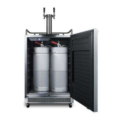 Outdoor Full Size Beer Keg Dispenser with Double Tap