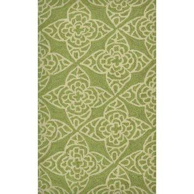 Summerton Life Style Collection Green/Ivory 2 ft. 3 in. x 3 ft. 9 in. Accent Rug