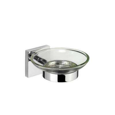 Chester Flexi-Fix Glass Soap Dish and Holder in Chrome