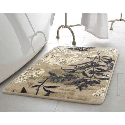 Cora Taupe 2 ft. x 3 ft. High Definition Printed Memory Foam Area Rug