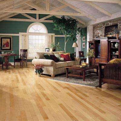 Prestige Natural Maple 3/4 in. Thick x 3-1/4 in. Wide x Varying Length Solid Hardwood Flooring (22 sq. ft. / case)
