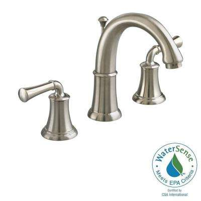 Portsmouth 8 in. Widespread 2-Handle High-Arc Bathroom Faucet in Satin Nickel