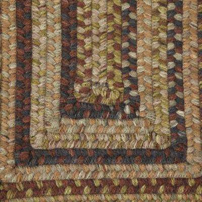 Cabin Grecian Green 3 ft. x 5 ft. Rectangle Braided Area Rug
