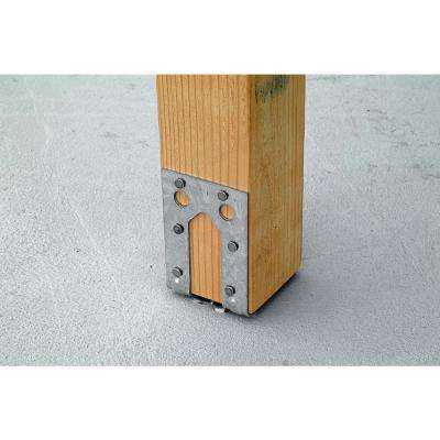 PB Galvanized Non-Standoff Post Base for 4x4 Nominal Lumber