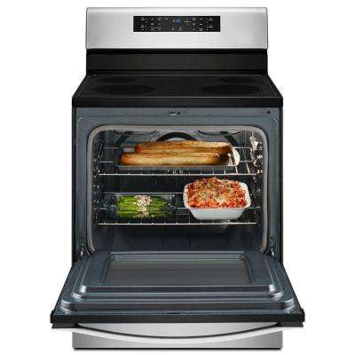 5.3 cu. ft. Electric Range with Convection in Stainless Steel
