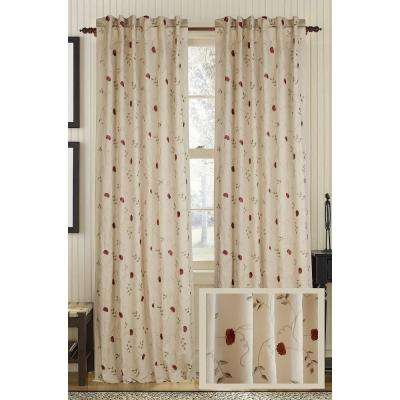 Wheatish Rhythm Linen and Cotton Rod Pocket Curtain - 50 in.W x 96 in. L