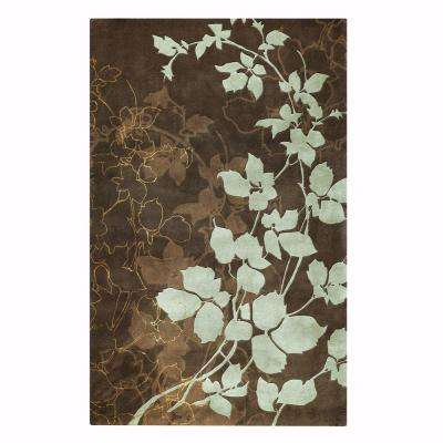 Arcadian Brown 5 ft. 3 in. x 8 ft. 3 in. Area Rug