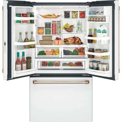 23.1 cu. ft. French Door Refrigerator in Matte White, Counter Depth and Fingerprint Resistant