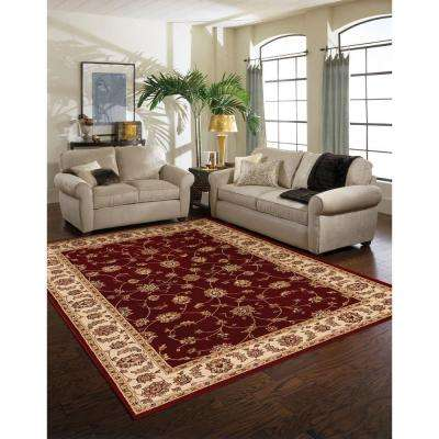 Claire Red/Beige 8 ft. x 10 ft. Area Rug