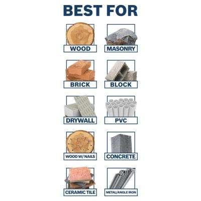 Daredevil Multi-Purpose Carbide Drill Bits for Drilling Tile, Masonry, Wood, Metal and Concrete (5-Piece)