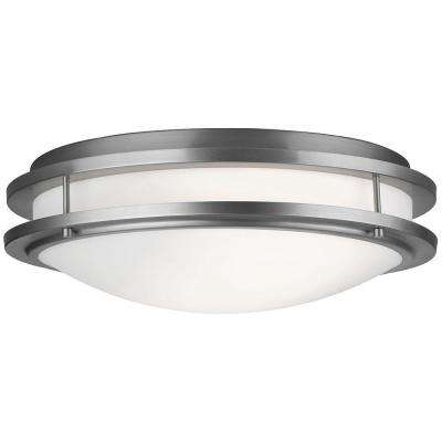 Cambridge 2-Light Satin Nickel Ceiling Fixture