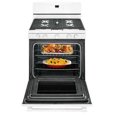 5.0 cu. ft. Gas Range with 5th Oval Burner in White
