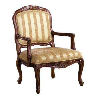 Burnaby Accent Chair in Antique Oak Finish