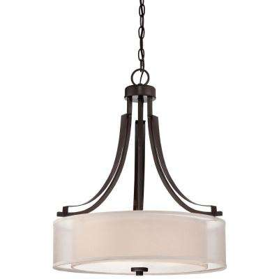 Parsons Studio 3-Light Smoked Iron Pendant