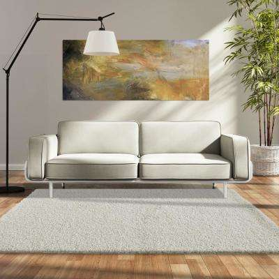 Custom Shag Off White 6 ft. x 8 ft. Indoor Area Rug