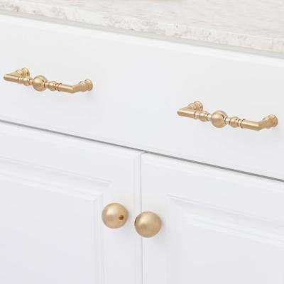 5-1/16 in. (128 mm) Center-to-Center Champagne Bronze Traditional Drawer Pull