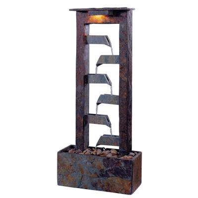 Aqueduct Lighted 32 in. Indoor Table Fountain