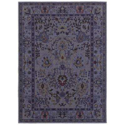 Overdye Purple 5 ft. 3 in. x 7 ft. Area Rug