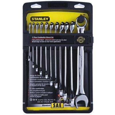 SAE Combination Wrench Set (11-Piece)