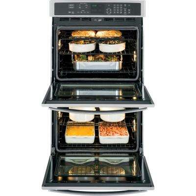 Profile 30 in.  Smart Double Electric Smart Wall Oven Self-Cleaning with Convection in Stainless Steel