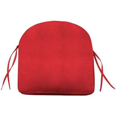 Sunbrella Red Contoured Outdoor Seat Cushion