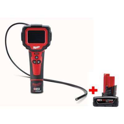 M12 12-Volt Lithium-Ion Cordless M-Spector 360° Digital Inspection Camera Kit with M12 6.0Ah Battery